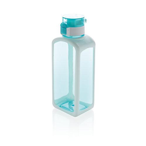 Botella de agua tritán antigoteo turquesa