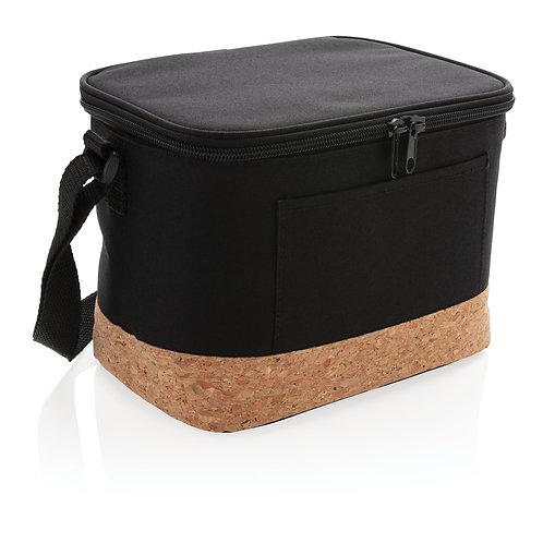 Bolsa y nevera bicolor con detalle de corcho negro