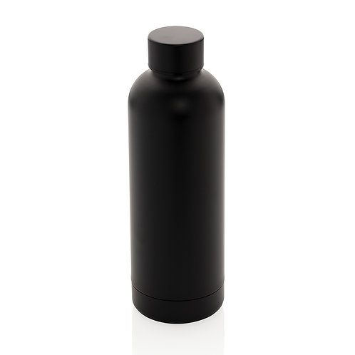 Botella al vacío de doble pared de acero inoxidable negro