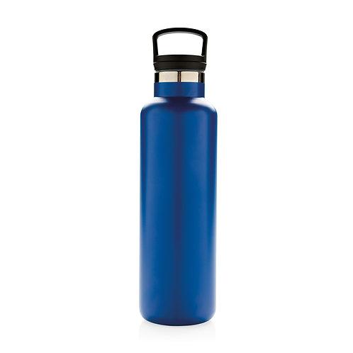 Botella antigoteo al vacío azul