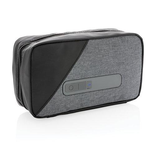 Estuche esterilizador portátil UV-C con batería integrada gris