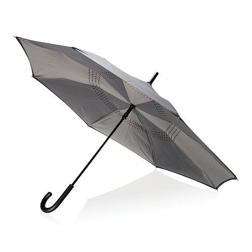 "Paraguas reversible 23"" gris"