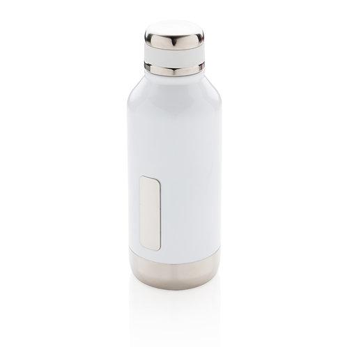 Botella al vacío antigoteo con placa para logo blanco
