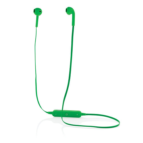 Auriculares inalámbricos con estuche verde