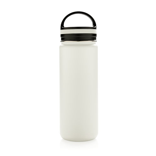 Botella de boca ancha antigoteo al vacío blanco