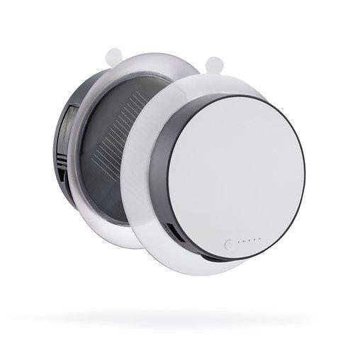 Cargador solar 1000mAh gris, blanco