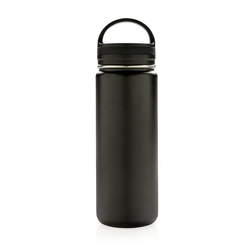 Botella de boca ancha antigoteo al vacío negro