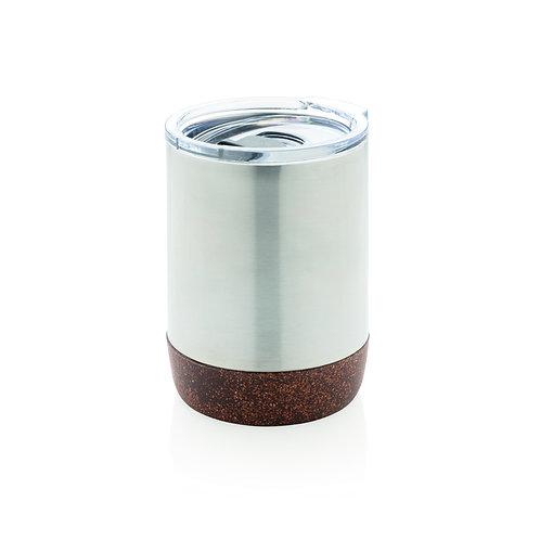 Taza pequeña de corcho al vacío plata