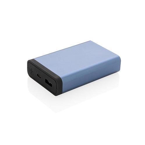 Powerbank 10.000 mAh de aluminio de bolsillo azul