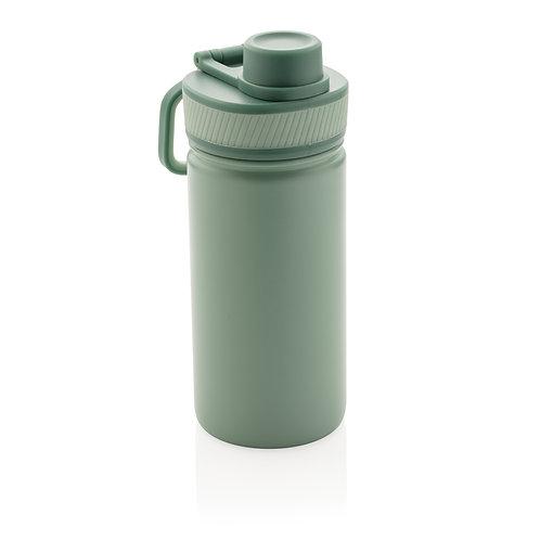 Botella de acero inoxidable al vacío con tapa deportiva 550m verde, verde
