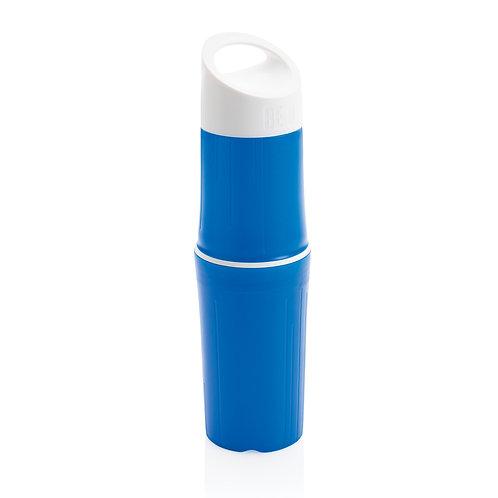 Botella BE O de agua orgánica, Fabricada en EU azul