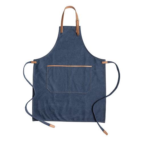 Delantal chef lujoso de lona azul