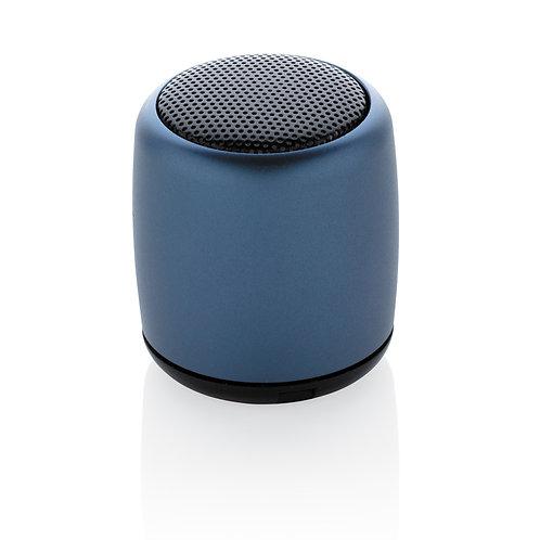 Mini altavoz inalámbrico de aluminio azul