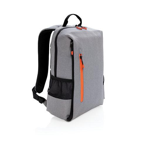 "Mochila libre de PVC para portátil 15,6"" con RFID y USB gris, naranja"