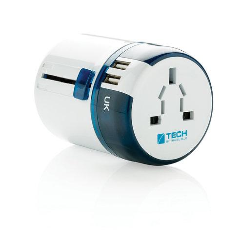 Adaptador de viaje mundial USB