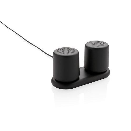 Set 2 altavoces con carga por inducción