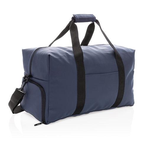 Bolsa de viaje de fin de semana de PU suave azul marino