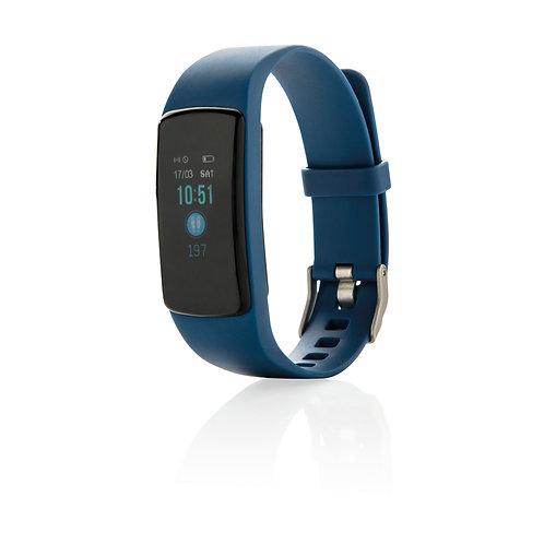 Pulsera Stay Fit con monitorización del corazón azul