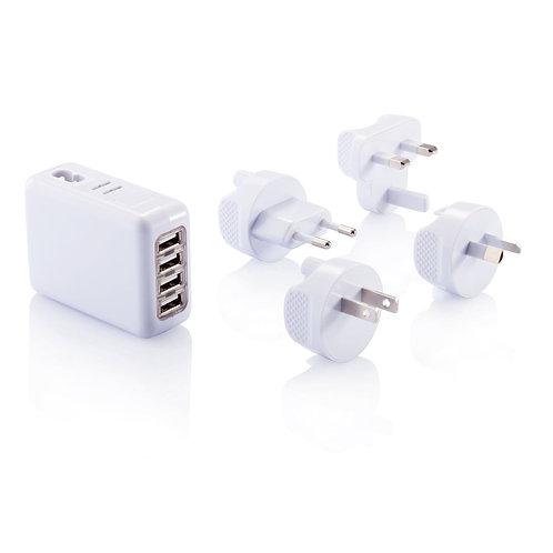 Enchufe de viaje con 4 puertos USB
