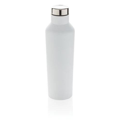 Botella de agua moderna de acero inoxidable al vacío blanco