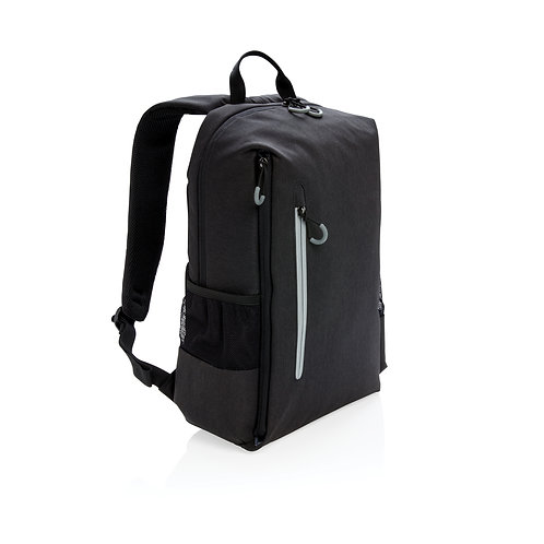 """Mochila libre de PVC para portátil 15,6"""" con RFID y USB negro, gris"""