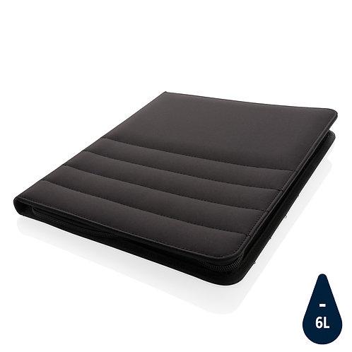 Carpeta RPET A4 con cremallera negro