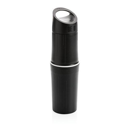 Botella BE O de agua orgánica, Fabricada en EU negro