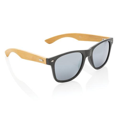 Gafas de sol de paja y bambú de trigo negro