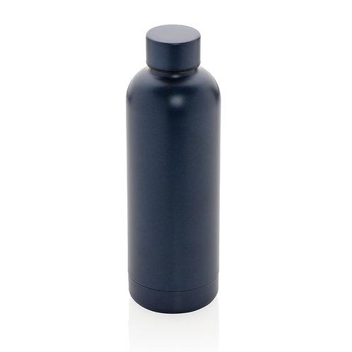 Botella al vacío de doble pared de acero inoxidable azul
