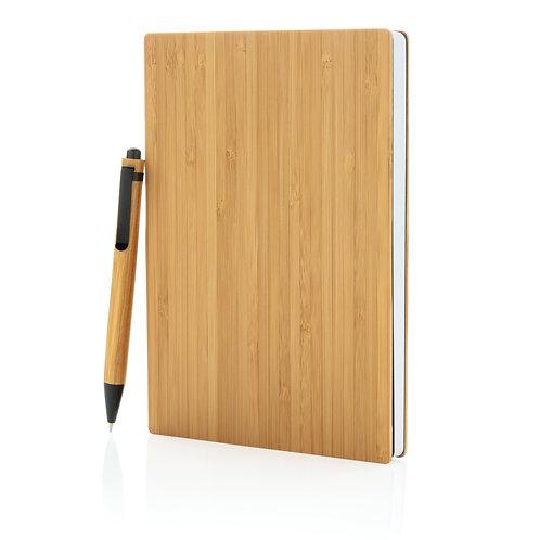 Juego de libreta y bolígrafo A5 Bamboo
