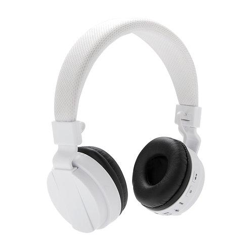 Auriculares sin cables plegables blanco