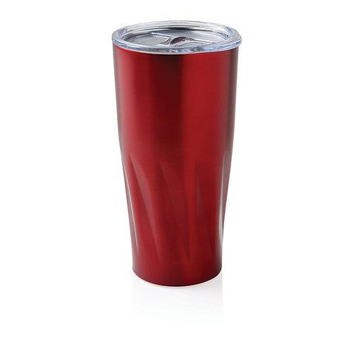 Taza al vacío con capa de cobre rojo