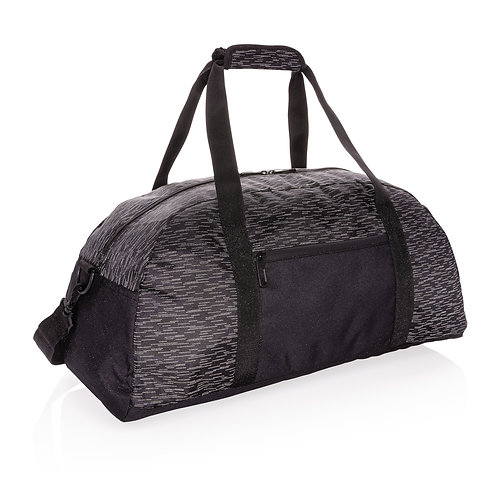 Bolsa de fin de semana reflectante RPET con trazador AWARE ™ negro