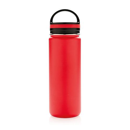 Botella de boca ancha antigoteo al vacío rojo