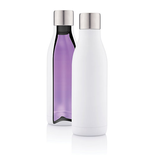 Botella de acero inoxidable al vacío con esterilizador UV-C