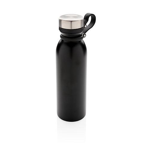 Botella de cobre al vacío con asa negro
