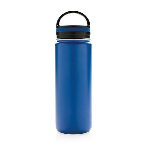 Botella de boca ancha antigoteo al vacío azul