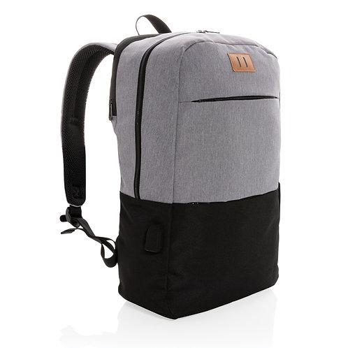 Moderna mochila portátil de 15.6 pulgadas USB y RFID sin PVC