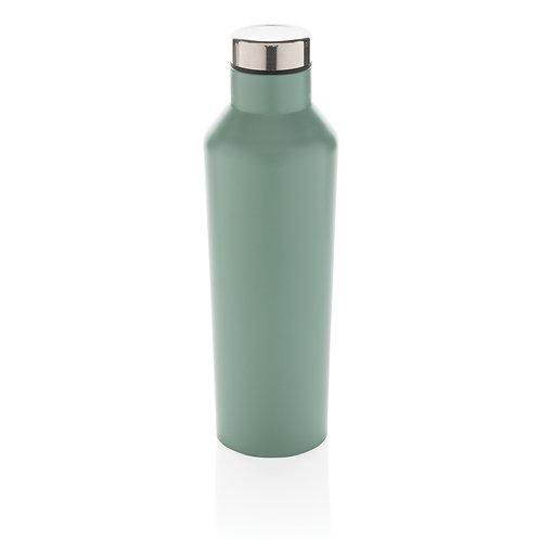 Botella de agua moderna de acero inoxidable al vacío verde