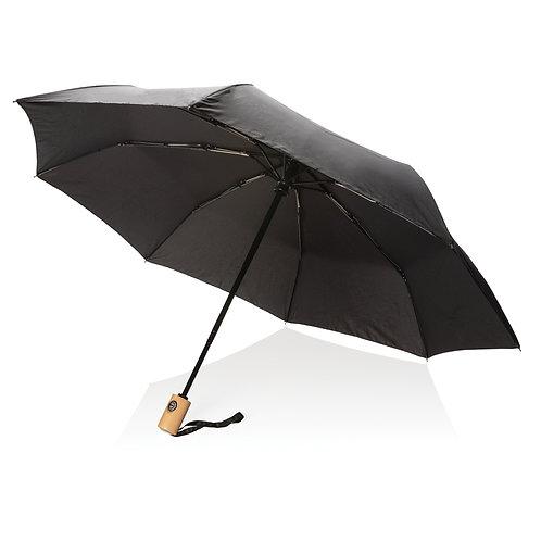 """Paraguas RPET de 21""""con apertura/cierre automático negro"""
