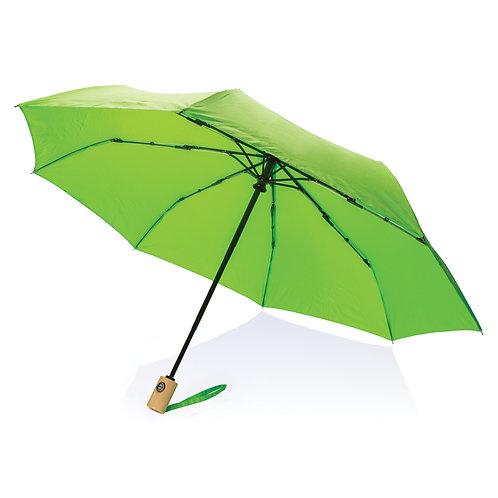"""Paraguas RPET de 21""""con apertura/cierre automático verde"""