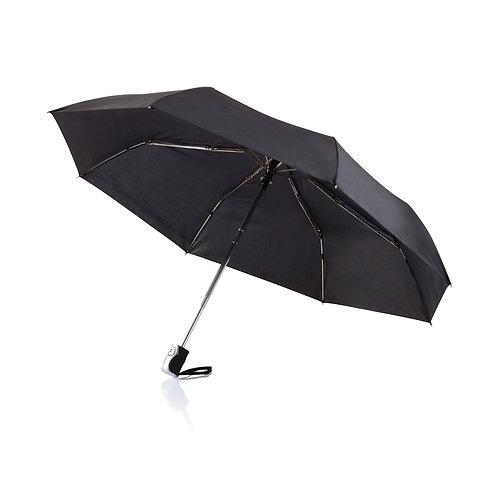"""Paraguas 21,5"""" automático 2 en 1 negro"""