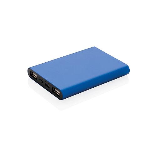 Batería externa de aluminio de 5.000 mAh azul
