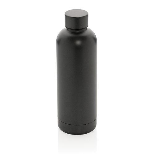 Botella al vacío de doble pared de acero inoxidable gris