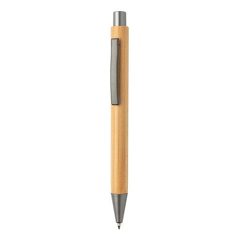 Bolígrafo fino de bambú de diseño