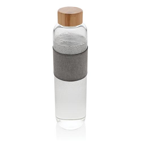 Botella de vidrio de borosilicato con bambú