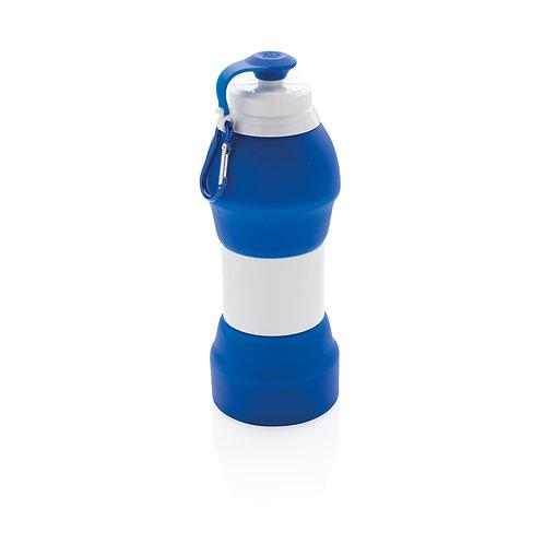 Botella deporte plegable de silicona azul