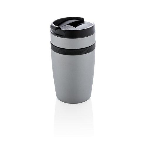 Taza anti goteo para café plata, negro