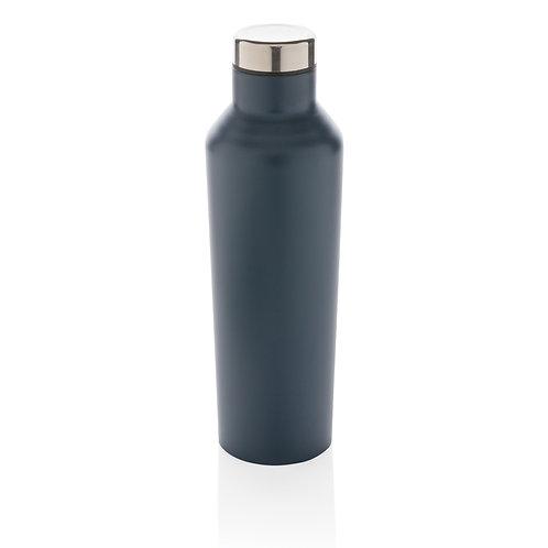 Botella de agua moderna de acero inoxidable al vacío azul