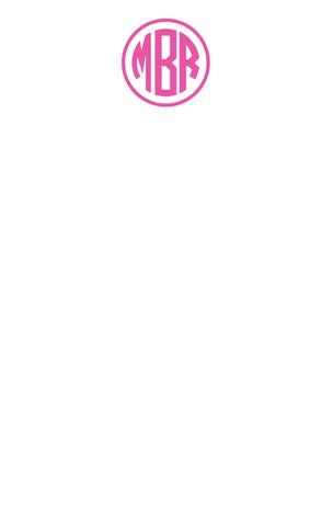 Pink Monogram Circle
